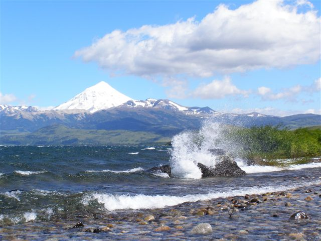 Lanin Volcano and Lake Huechulafquen Argentina