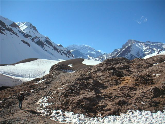 View on Aconcagua Mendoza Argentina