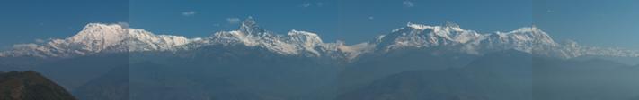 Annapurna range vanaf Sarangkot