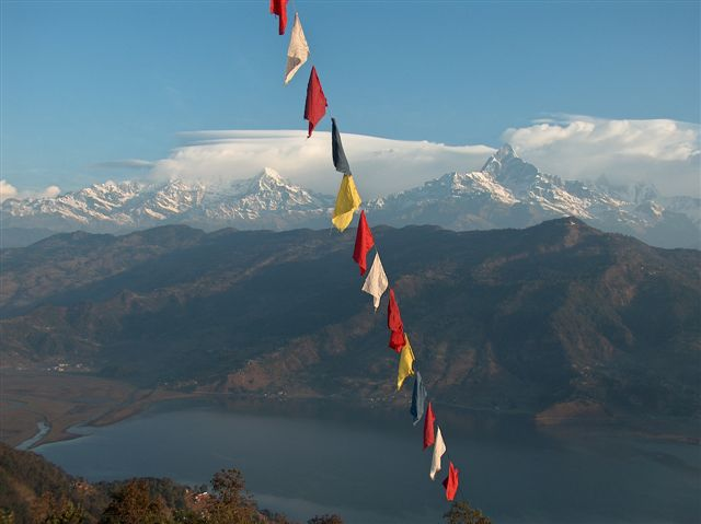 uitzicht vanaf Peace Pagoda